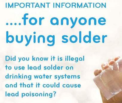 Plumber fined for illegal use of lead solder on water pipes